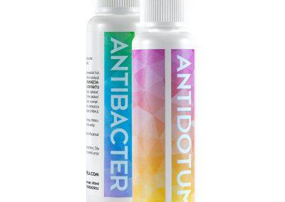 Granulated Antidotum and liquid Antibacter